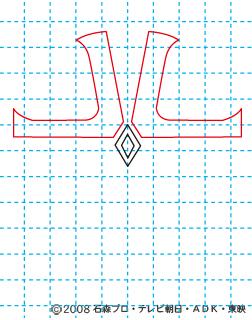 仮面ライダーキバ イクサ イラストの描き方 Illustrator作成 02
