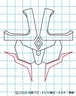 仮面ライダーキバ イクサ イラストの描き方 Illustrator作成 06