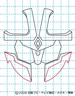 仮面ライダーキバ イクサ イラストの描き方 Illustrator作成 07