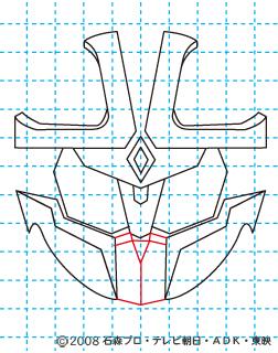 仮面ライダーキバ イクサ イラストの描き方 Illustrator作成 08