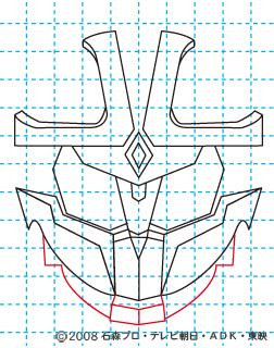仮面ライダーキバ イクサ イラストの描き方 Illustrator作成 09