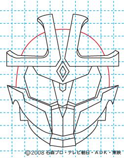 仮面ライダーキバ イクサ イラストの描き方 Illustrator作成 10