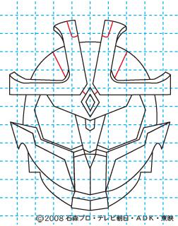 仮面ライダーキバ イクサ イラストの描き方 Illustrator作成 11