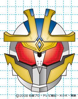 仮面ライダーキバ イクサ イラストの描き方 Illustrator作成 完成02