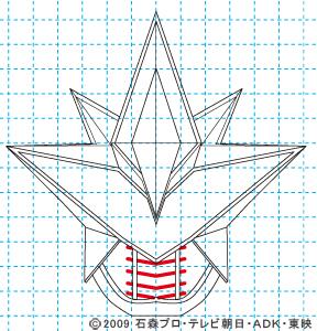 劇場版 超電王&ディケイド NEW電王 ベガフォーム10 イラストの描き方