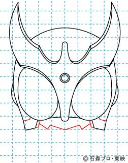 仮面ライダークウガ クウガ06 イラストの描き方 マイティフォーム