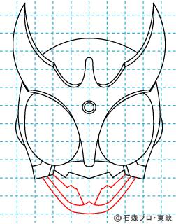 仮面ライダークウガ クウガ07 イラストの描き方 マイティフォーム
