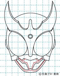 仮面ライダークウガ クウガ08 イラストの描き方 マイティフォーム