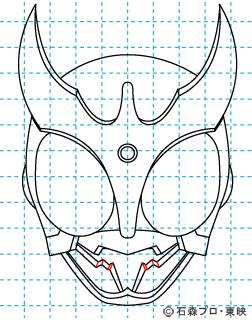 仮面ライダークウガ クウガ09 イラストの描き方 マイティフォーム