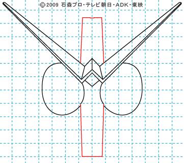 仮面ライダーW(ダブル) ダブル05 イラストの描き方 サイクロンジョーカー