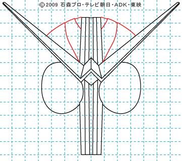 仮面ライダーW(ダブル) ダブル07 イラストの描き方 サイクロンジョーカー