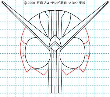 仮面ライダーW(ダブル) ダブル08 イラストの描き方 サイクロンジョーカー