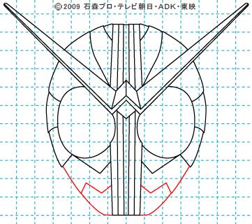 仮面ライダーW(ダブル) ダブル09 イラストの描き方 サイクロンジョーカー