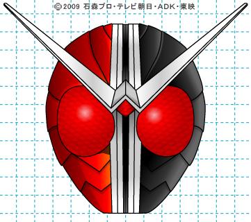 仮面ライダーW(ダブル) ダブル完成03 イラストの描き方 ヒートジョーカー