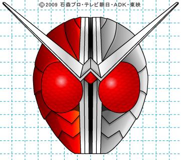 仮面ライダーW(ダブル) ダブル完成04 イラストの描き方 ヒートメタル