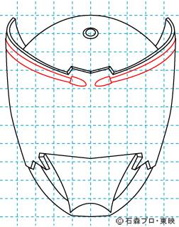 仮面ライダー龍騎(りゅうき) イラストの描き方 Dragon Knight05