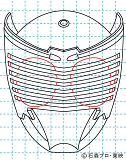 仮面ライダー龍騎(りゅうき) イラストの描き方 Dragon Knight07