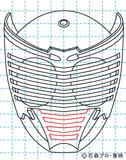 仮面ライダー龍騎(りゅうき) イラストの描き方 Dragon Knight08