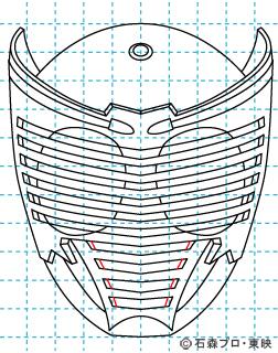仮面ライダー龍騎(りゅうき) イラストの描き方 Dragon Knight09