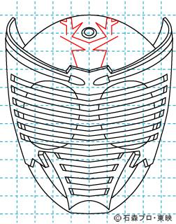 仮面ライダー龍騎(りゅうき) イラストの描き方 Dragon Knight10