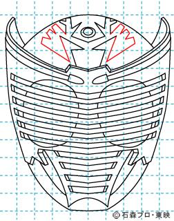 仮面ライダー龍騎(りゅうき) イラストの描き方 Dragon Knight11
