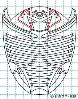 仮面ライダー龍騎(りゅうき) イラストの描き方 Dragon Knight12