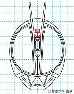 仮面ライダー555(ファイズ) イラストの描き方 MASKED RIDER Φs08