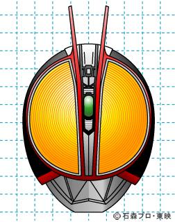 仮面ライダー555(ファイズ) イラストの描き方 MASKED RIDER Φs 完成02