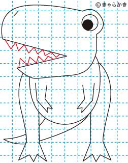 ティラノサウルス 恐竜 イラストの描き方 Dinosaur06