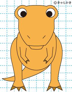 ティラノサウルス 恐竜 イラストの描き方 Dinosaur 完成02
