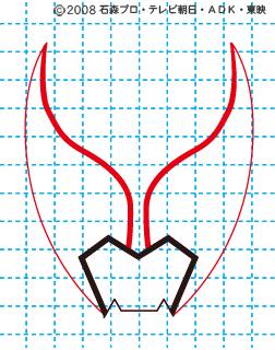 仮面ライダーキバ イラストの描き方 キバ(キバフォーム) MASKED RIDER KIVA02