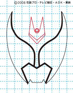 仮面ライダーキバ イラストの描き方 キバ(キバフォーム) MASKED RIDER KIVA03