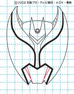 仮面ライダーキバ イラストの描き方 キバ(キバフォーム) MASKED RIDER KIVA05