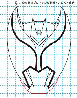 仮面ライダーキバ イラストの描き方 キバ(キバフォーム) MASKED RIDER KIVA06