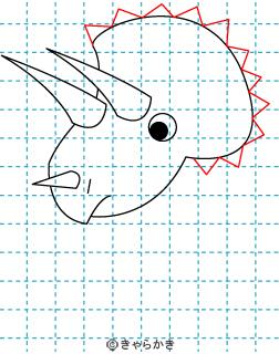 トリケラトプス 恐竜 イラストの描き方 Dinosaur04
