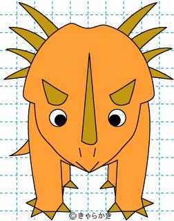 トリケラトプス 恐竜 イラストの描き方 Dinosaur (スティラコサウルス)