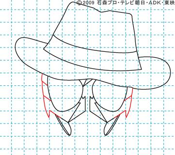 仮面ライダーW(ダブル) 仮面ライダースカル イラストの描き方 おやじさん06