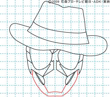 仮面ライダーW(ダブル) 仮面ライダースカル イラストの描き方 おやじさん07