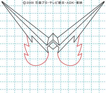 仮面ライダーW(ダブル) 仮面ライダーダブル イラストの描き方 ファングジョーカー04