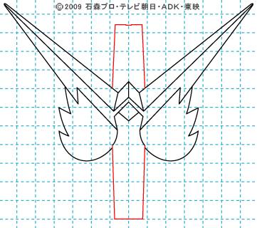 仮面ライダーW(ダブル) 仮面ライダーダブル イラストの描き方 ファングジョーカー05