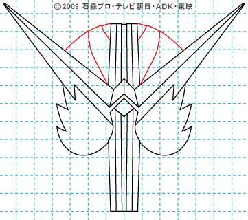 仮面ライダーW(ダブル) 仮面ライダーダブル イラストの描き方 ファングジョーカー07