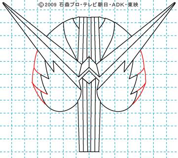 仮面ライダーW(ダブル) 仮面ライダーダブル イラストの描き方 ファングジョーカー08