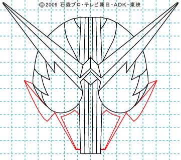 仮面ライダーW(ダブル) 仮面ライダーダブル イラストの描き方 ファングジョーカー09