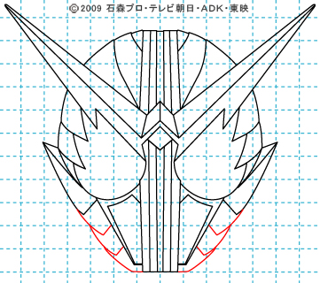 仮面ライダーW(ダブル) 仮面ライダーダブル イラストの描き方 ファングジョーカー10