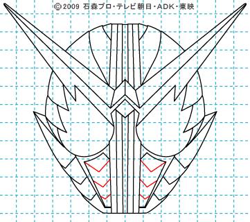 仮面ライダーW(ダブル) 仮面ライダーダブル イラストの描き方 ファングジョーカー11
