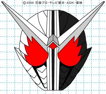 仮面ライダーW(ダブル) 仮面ライダーダブル イラストの描き方 ファングジョーカー完成01