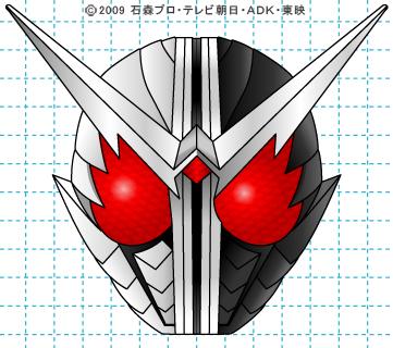 仮面ライダーW(ダブル) 仮面ライダーダブル イラストの描き方 ファングジョーカー完成02