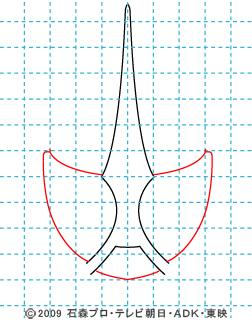 仮面ライダーW(ダブル) 仮面ライダーアクセル イラストの描き方 02