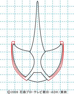 仮面ライダーW(ダブル) 仮面ライダーアクセル イラストの描き方 03