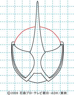 仮面ライダーW(ダブル) 仮面ライダーアクセル イラストの描き方 04